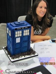 Dr Who Tardis from Mad Hatter Cake Studio at Salt Lake Comic Con 2013